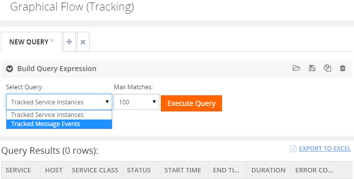 graphical flow tracking build query expression