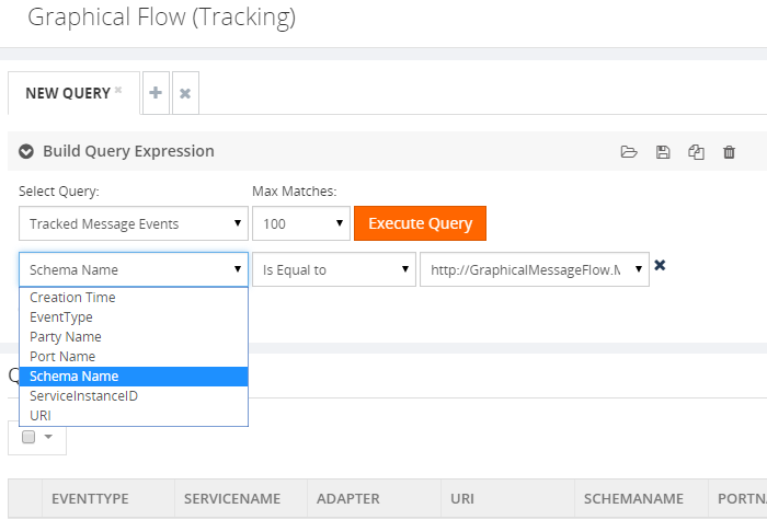 graphical flow tracking schema name