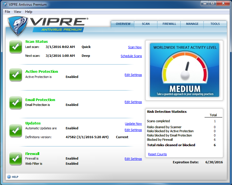 Updating VIPRE Antivirus & VIPRE Internet Security