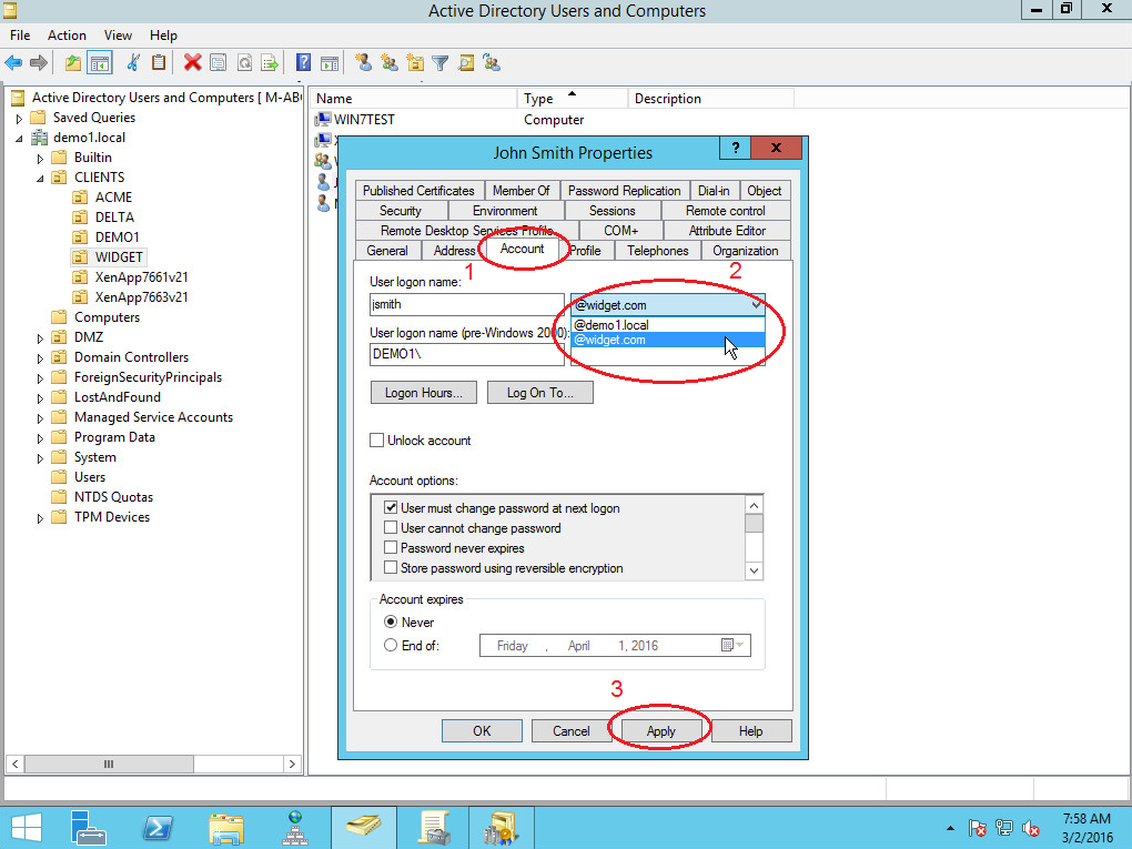 how to add upn to active directory