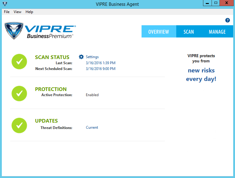 Updating Your VIPRE Business Agents