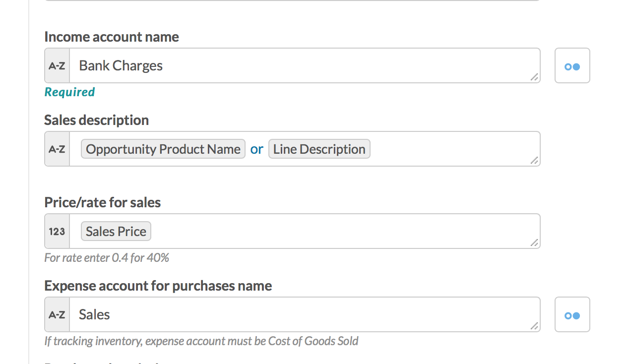 QuickBooks Error : Invalid Account Type used : Workato