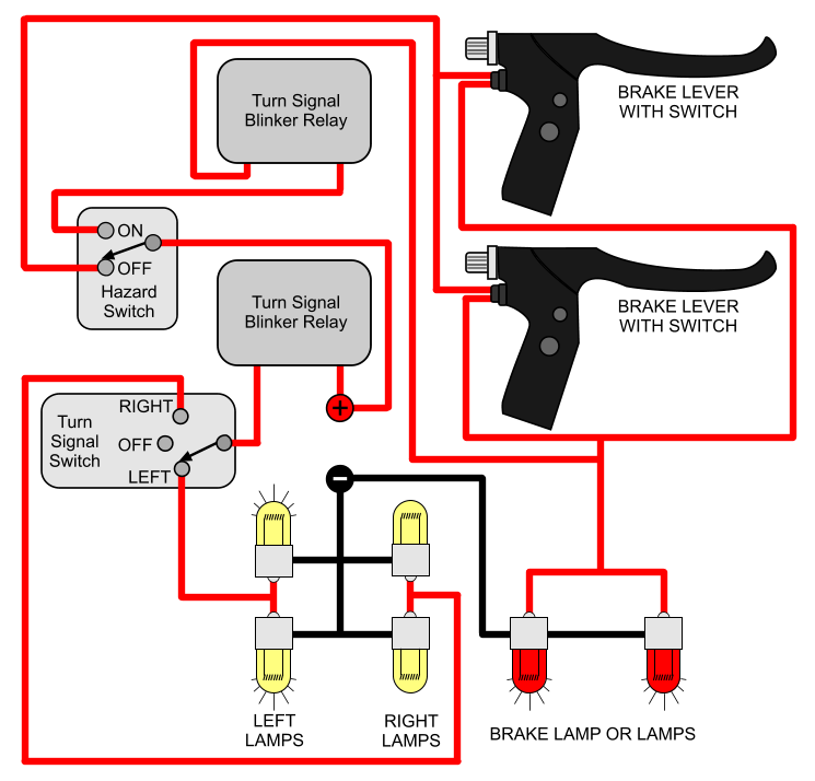 Wiring Blinkers Motorcycle - Wiring Diagram Expert on 2858 turn signal switch diagram, flhx turn signal wire diagram, chevy turn signal diagram, ford turn signal switch diagram, gm turn signal switch diagram, truck-lite turn signal diagram, gmc 3500 truck wiring diagram, 3 wire led light wiring diagram, universal turn signal parts diagram,