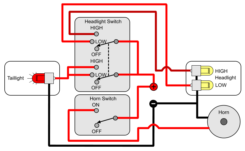 Motorcycle Light Switch Wiring Diagram : Installing turn signals electricscooterparts support