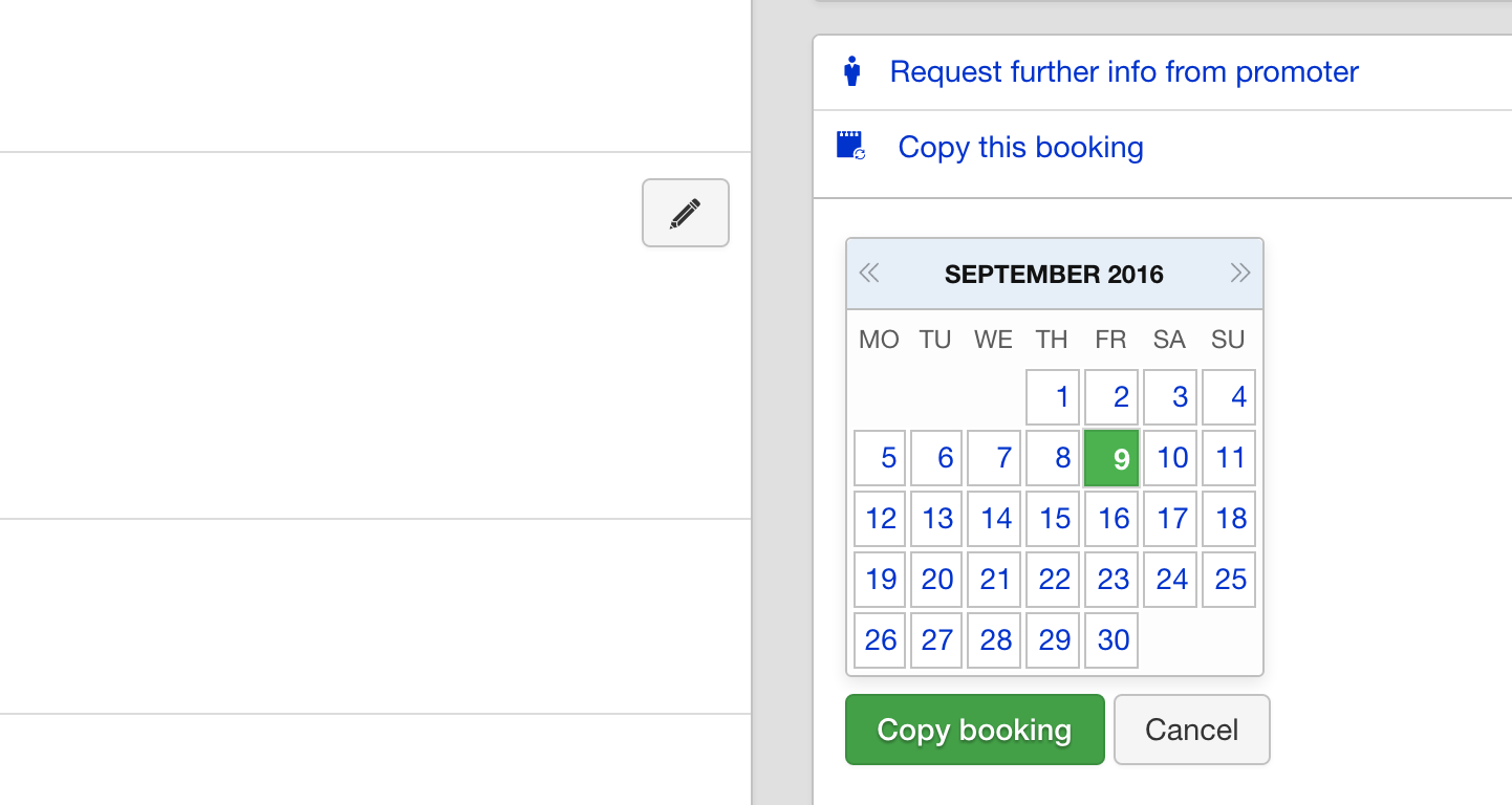 Multiple Artists On A Single Booking : Overture Support