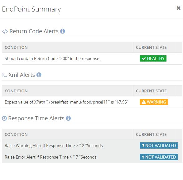 web endpoint metrics status monitoring