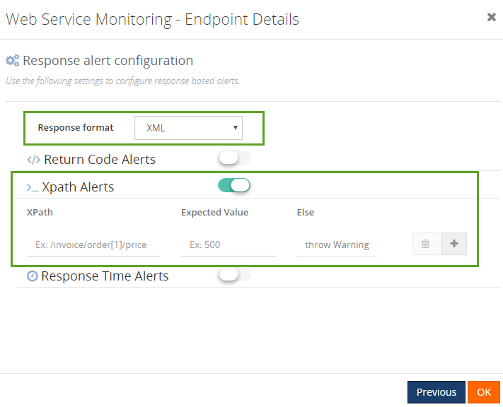 xpath json path alerts in biztalk360 web endpoint monitoring