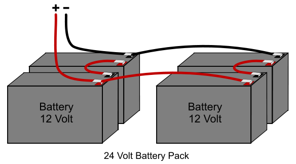 24 volt scooter battery wiring diagram 24 volt dc battery circuit diagram