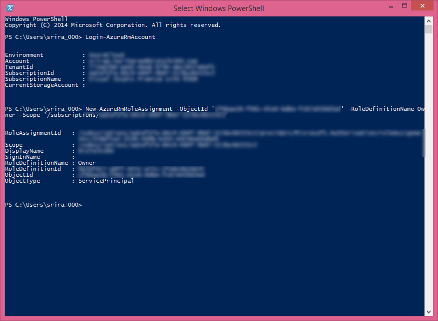executing validation command in powershell