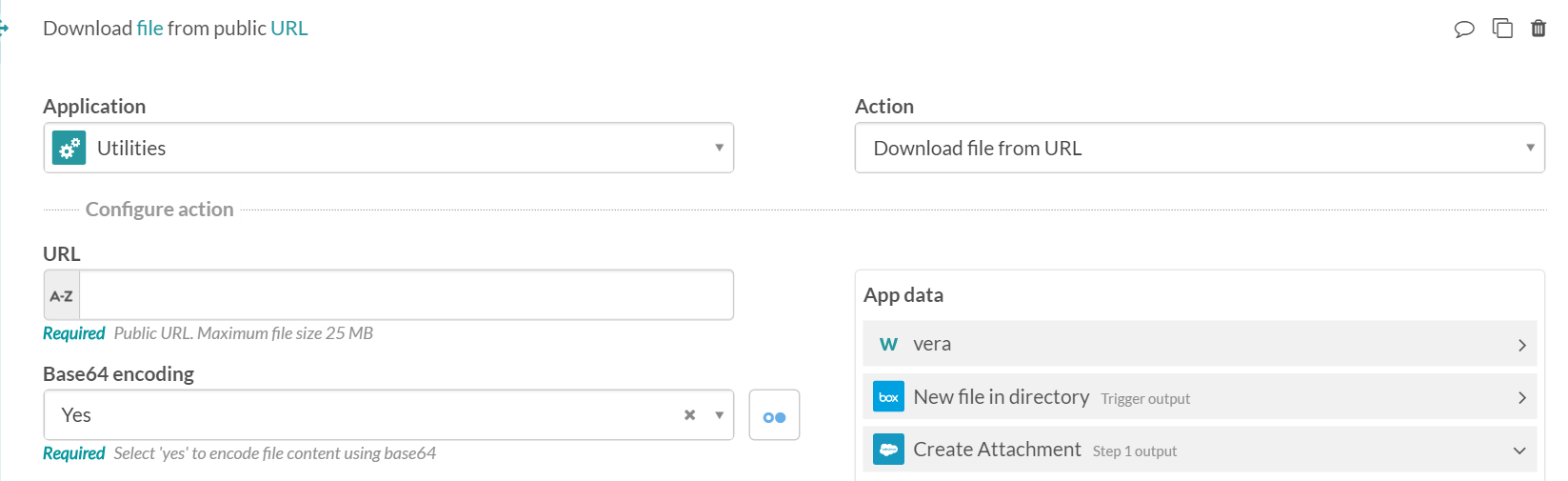 Downloading and uploading attachments in Salesforce