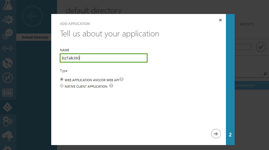 biztalk360 - application details in adding to azure active directory