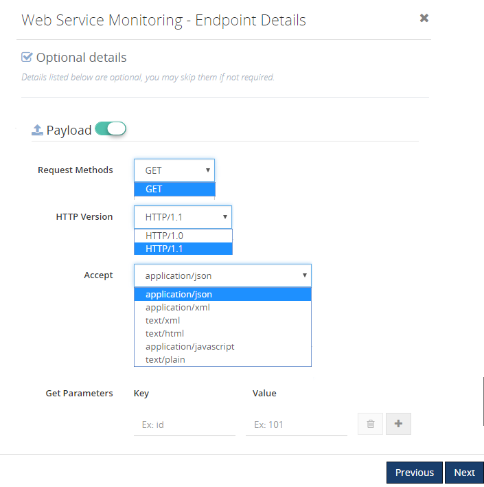 setting up payload details for azure web service endpoints monitoring in biztalk360