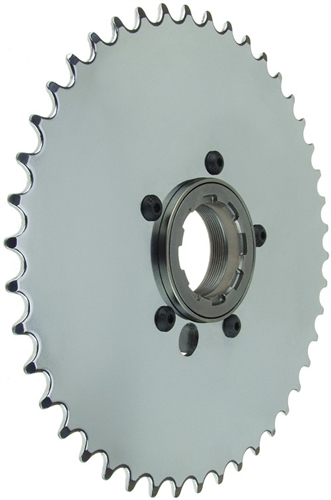 Beach wagon support for Freewheel sprocket for electric motor