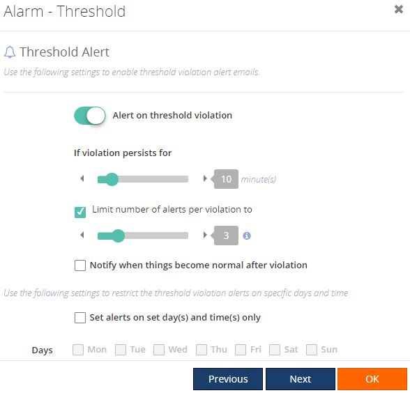 threshold violation alert in biztalk360 for api apps