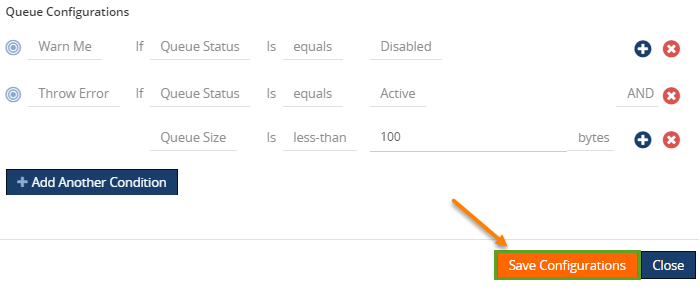 queue configurations for azure service bus queue monitoring in biztalk360
