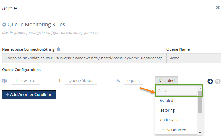 queue configurations for msmq monitoring