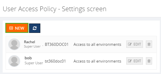 biztalk360 user access permission details