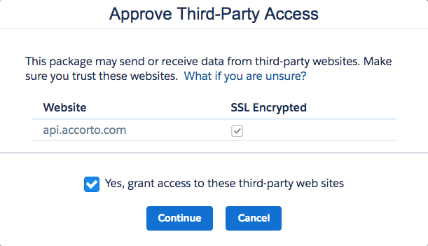 Appove Third Party Access