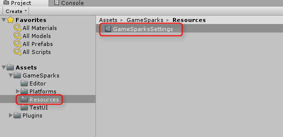 Unity - Settings File? : GameSparks