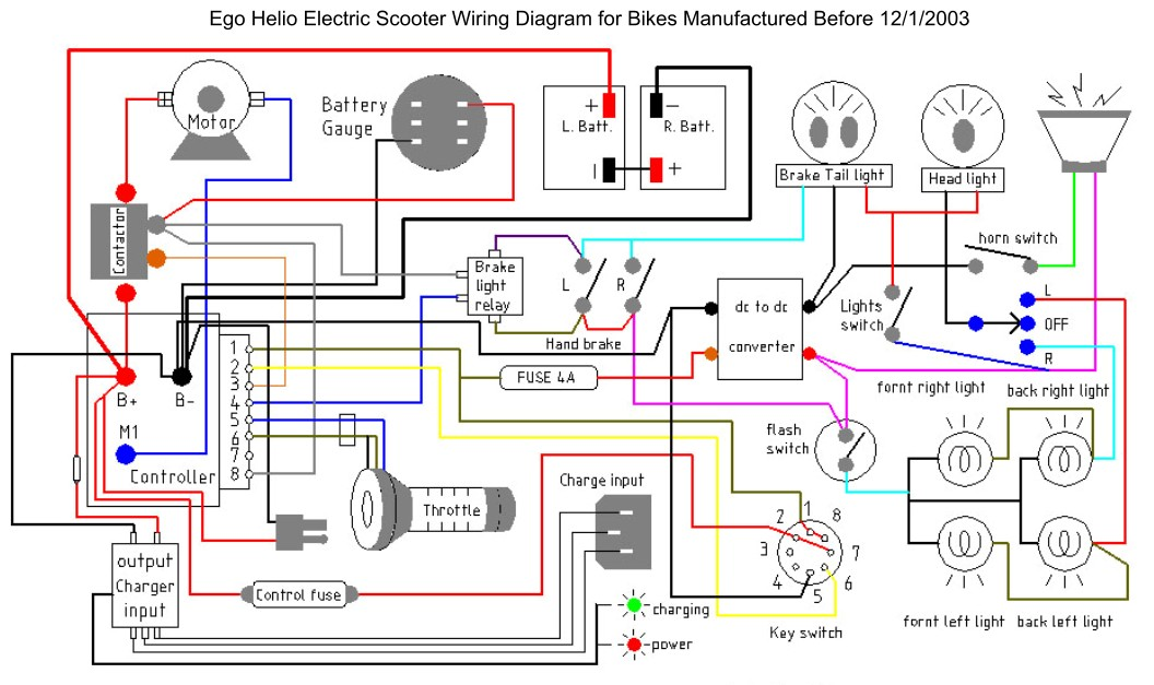 e scooter wiring diagram
