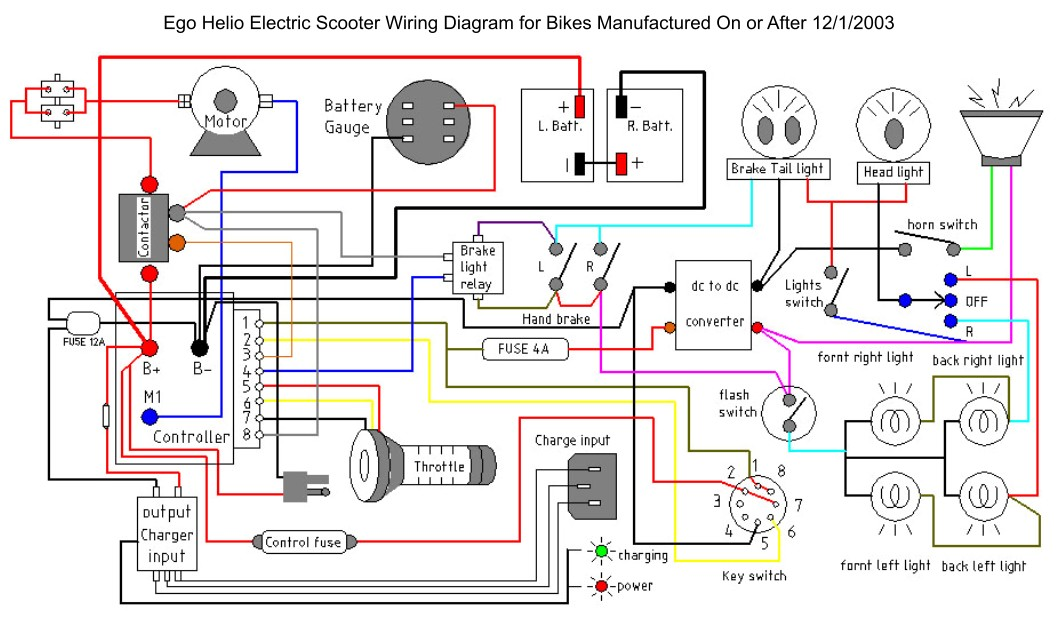 lighting system on ego helio electric scooter electricscooterparts rh support electricscooterparts com wiring diagram geocool heat pump wiring diagram goodman heat pump