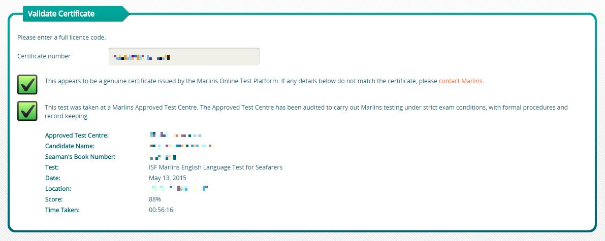 How do I validate a Marlins test certificate? : Helpdesk