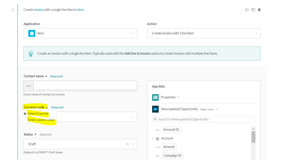 Created Or Updated Closed Won Opportunity In Salesforce Creates Xero - Salesforce invoicing app