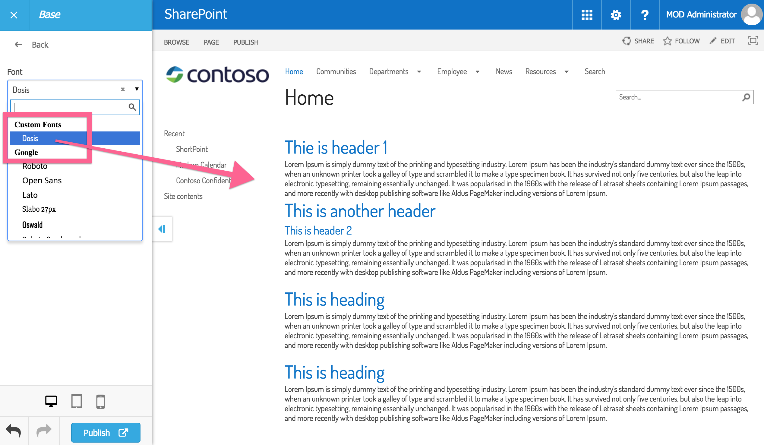 Adding custom fonts to SharePoint sites manually : Support Center