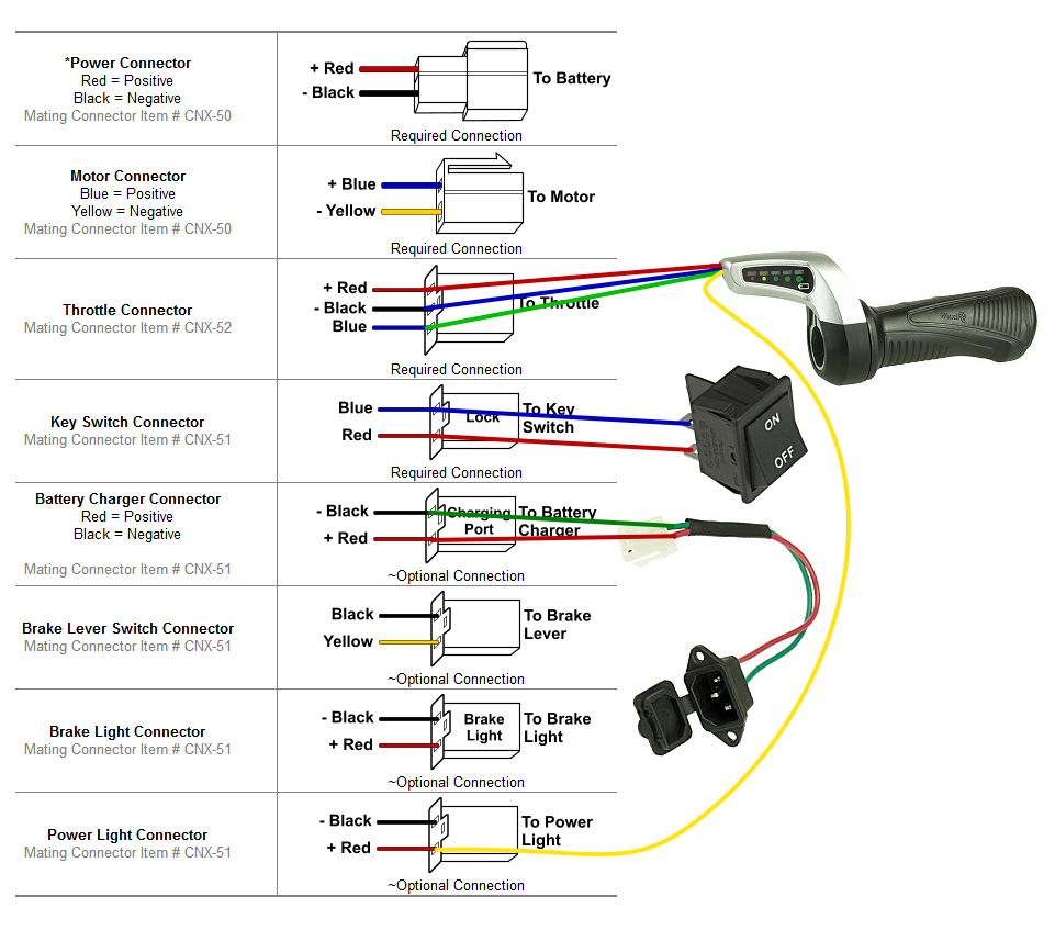 Help With Scooter Build Electricscooterpartscom Support 1000 Watt Controller Wiring Diagram Image