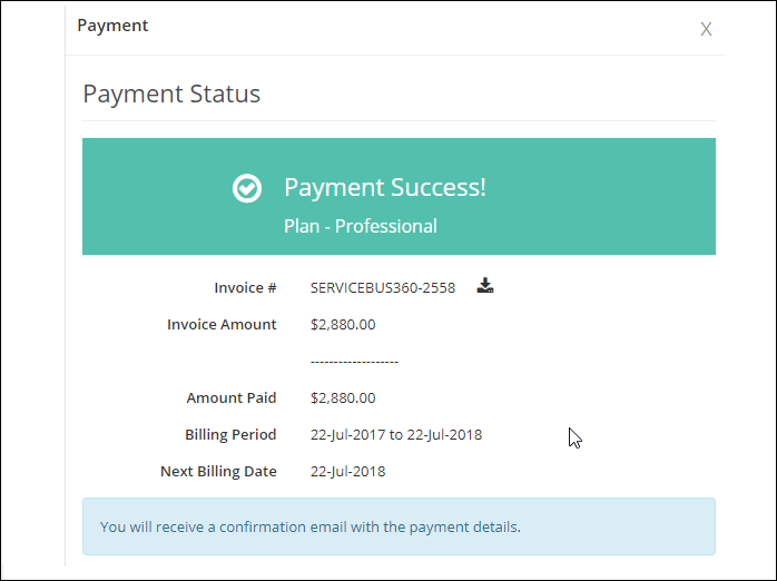 Canadian Customs Invoice Word Payments In Servicebus  Servicebus Support Portal Meps Receipt Pdf with Sephora Return Without Receipt Clicking On The Confirm Will Take You To Payment Status Screen Labor Invoice Template Word