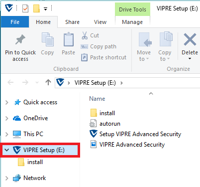 How to install VIPRE Advanced Security via HSN USB : Support