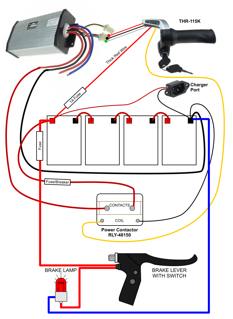 brake light electricscooterparts com support Motor Contactor Wiring Diagram