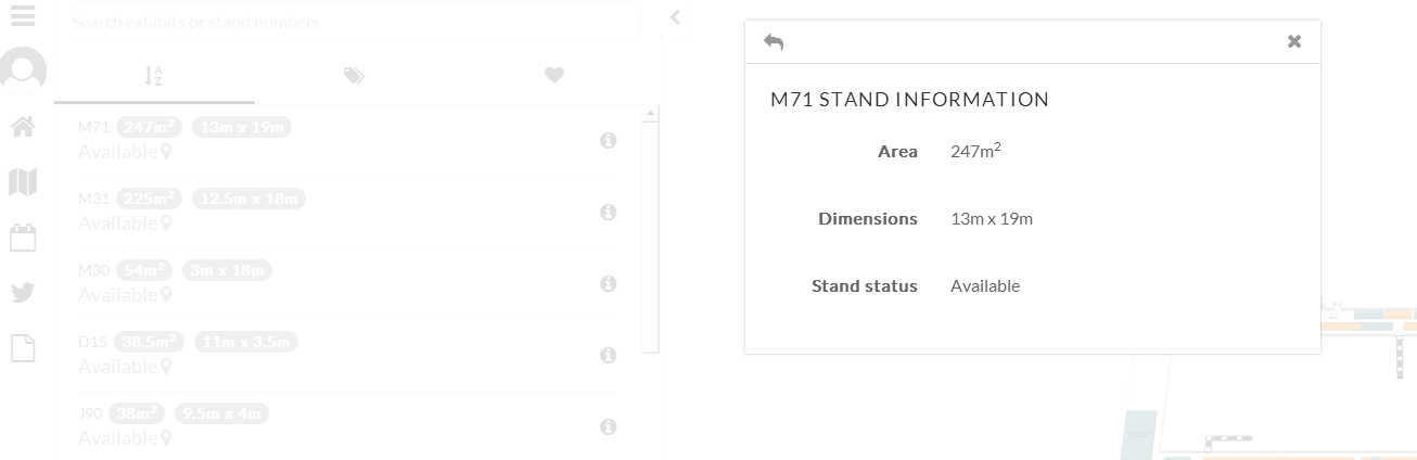 How can I remove stand dimensions when I select a stand on Showlive ...