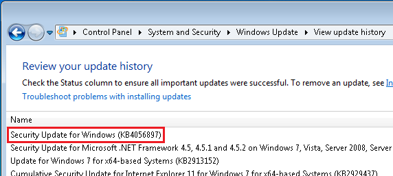 windows 7 wannacry patch kb number