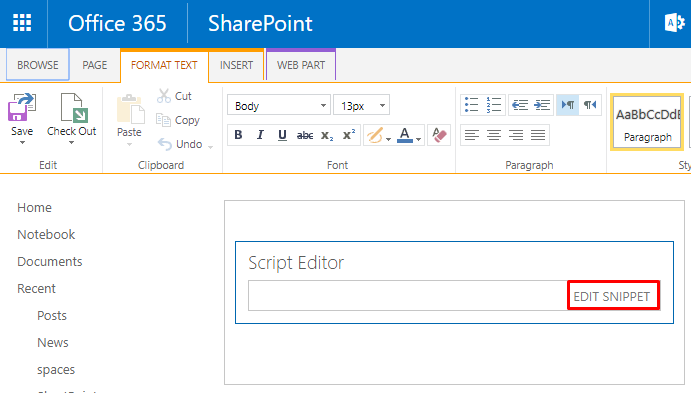 Embed a Yammer Feed into your SharePoint Classic and Modern