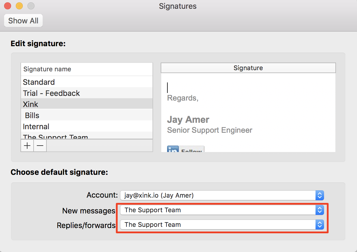 how to set up email signature outlook mac