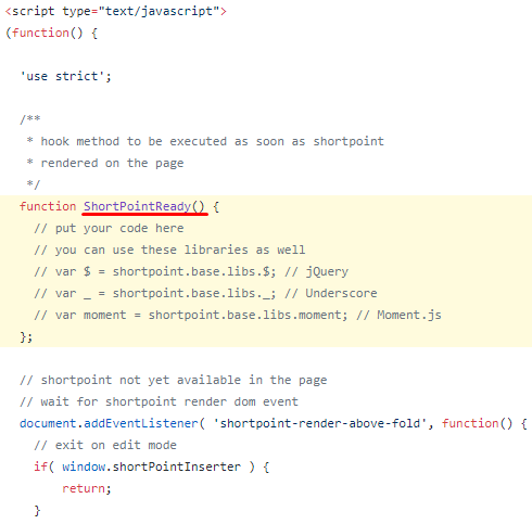 Execute JavaScript After ShortPoint Elements Render Event