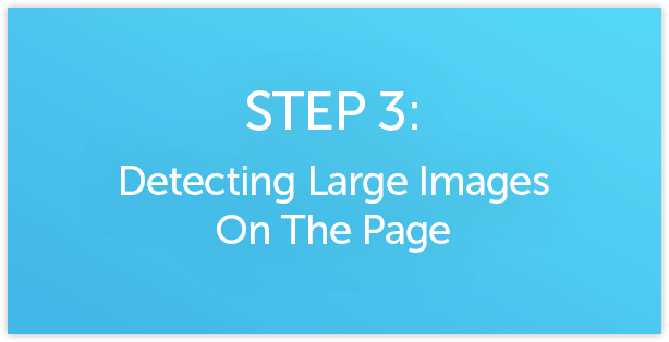 Detecting Large Images on SharePoint page
