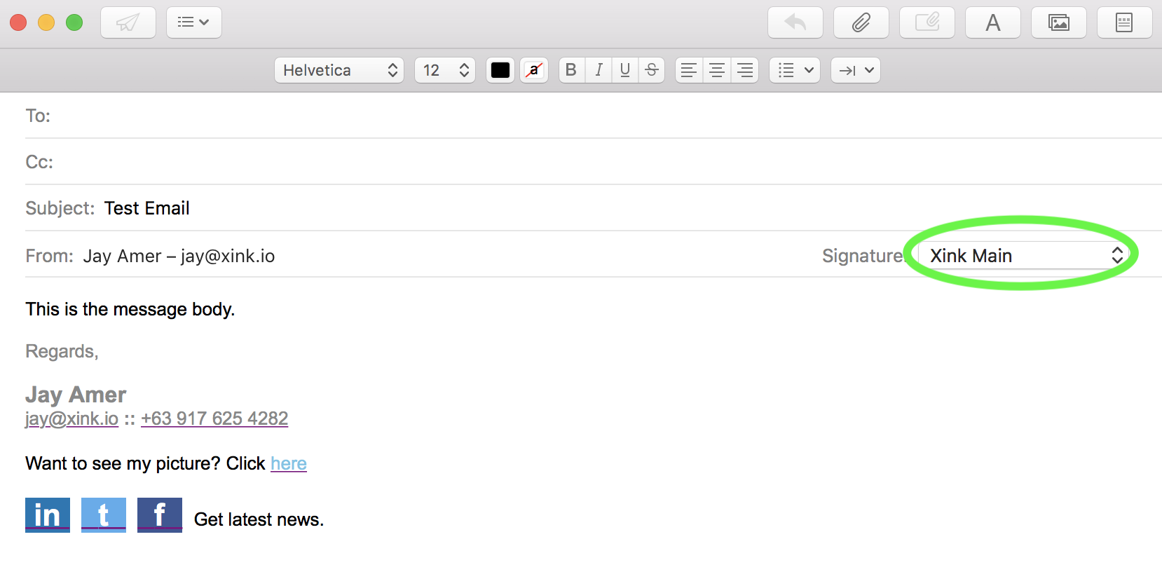 Email Signature - How to install the client app on Mac OS : EmaiI