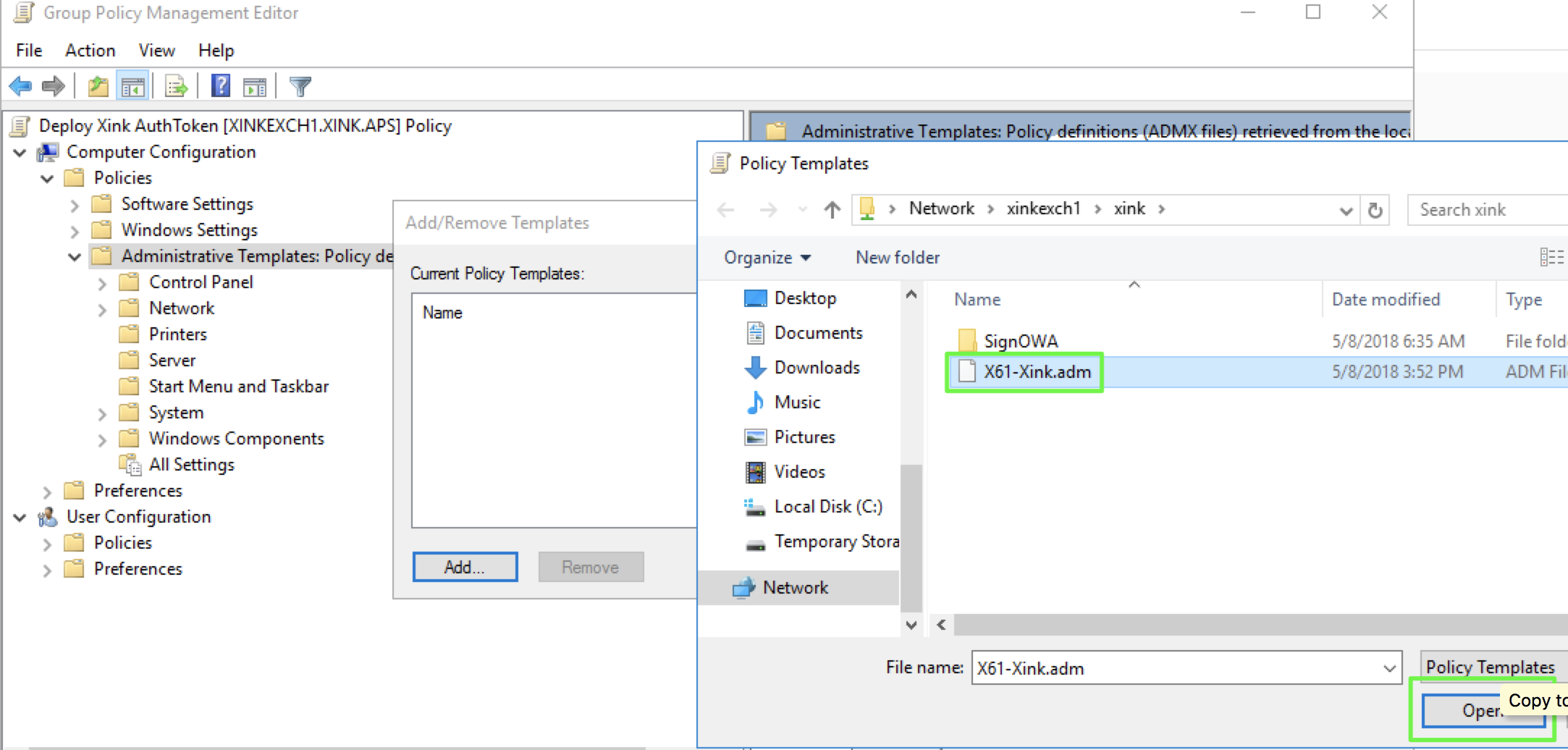 It Pro Deploy Xink Adm File Via Gpo Template Xink Token Id