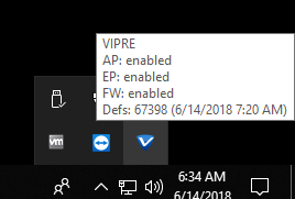 I received a message saying Windows Firewall and VIPRE are both