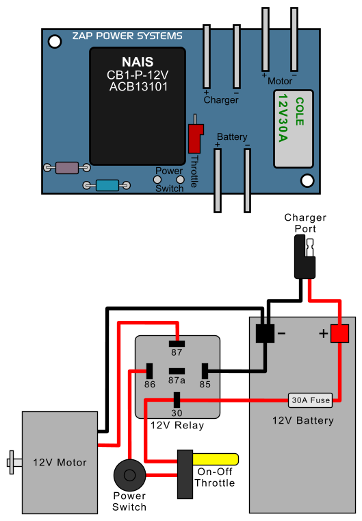 Zappy Clic Electric Scooter Relay Conversion ... on 70v speaker wiring diagram, 125v wiring diagram, 120vac wiring diagram, carrier air handler wiring diagram, 20v wiring diagram, minn kota 24 volt wiring diagram, bass tracker electrical wiring diagram, 24 volt relay wiring diagram, 72v wiring diagram, 11.1v wiring diagram, 36v wiring diagram, 24 volt thermostat wiring diagram, 24 volt starter wiring diagram, 24 volt alternator wiring diagram, 38v wiring diagram, 12 volt boat wiring diagram, light switch wiring diagram, 30a wiring diagram, 220vac wiring diagram, coleman air conditioning wiring diagram,