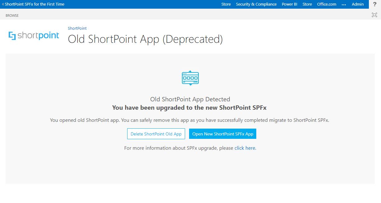 Old ShortPoint App