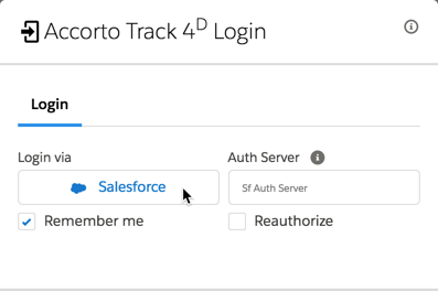 Accorto Track4D Login