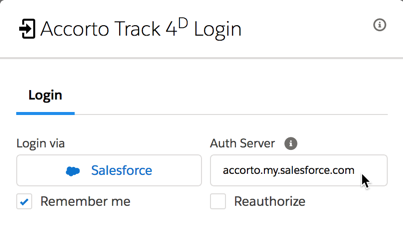 Salesforce Authentication Server