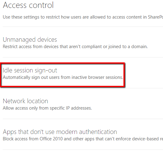 How to automatically sign out of Office 365 / SharePoint