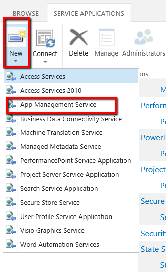 Configure the Subscription Settings and App Management