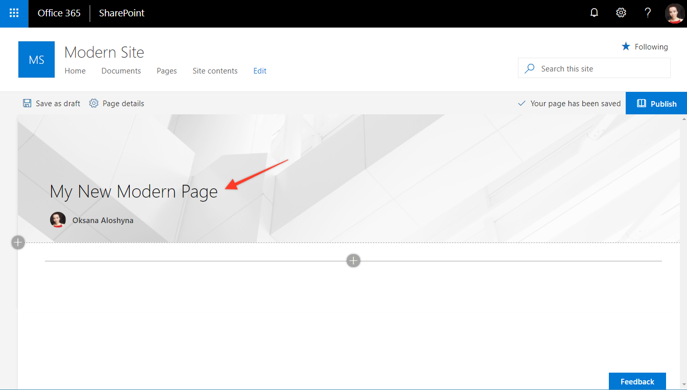 How to Transform a Classic SharePoint Page into Modern