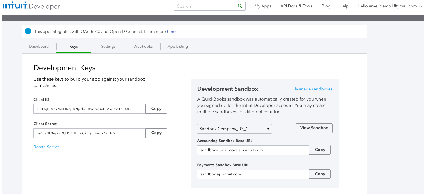 Connecting to Quickbooks Online using OAuth 2 0 : Workato