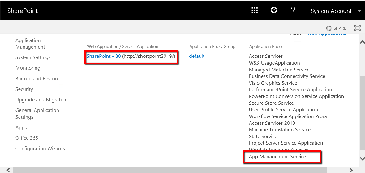 Associate App Management Service with your web application